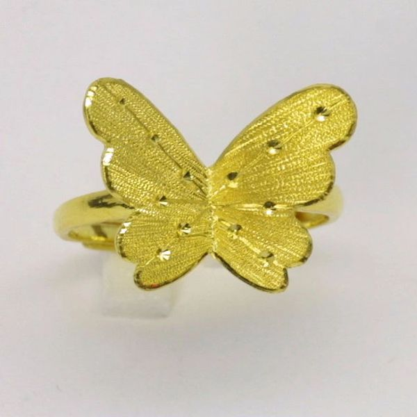 24K Gold Butterfly Ring