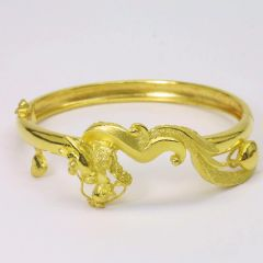 24K Gold Dragon Bangle