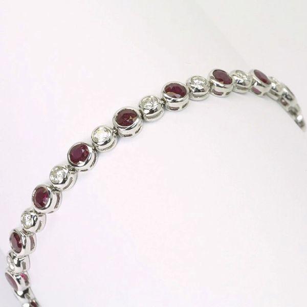 18K W/G Diamond Ruby Bracelet