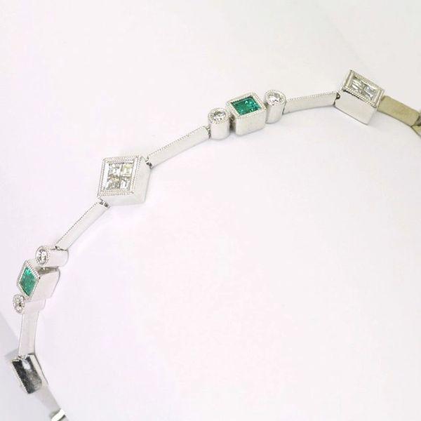 18K Diamond Emerald Bracelet