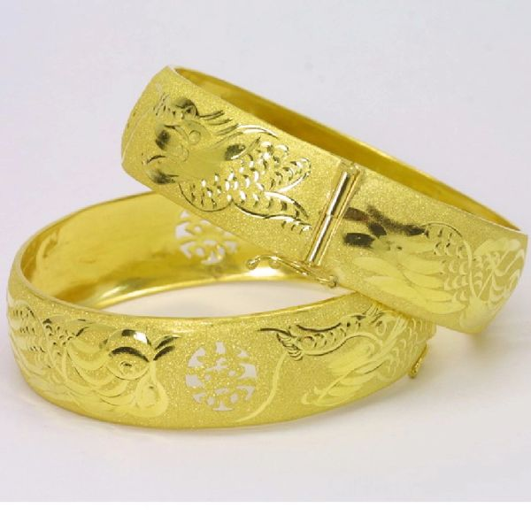 24K Gold Bangle Set
