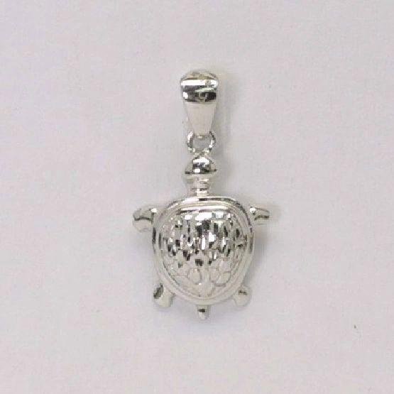Platinum Turtle Pendant