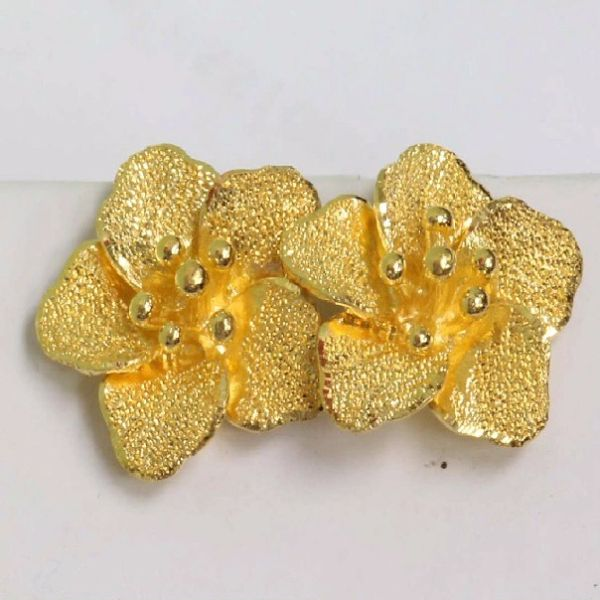 24K Gold Flower Earrings