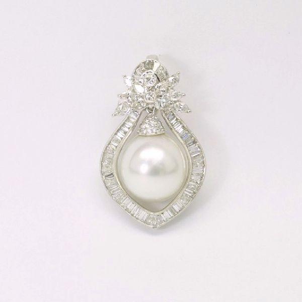 18K W/G Diamond South Sea Pearl Pendant