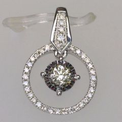 18K W/G Diamond Pendant