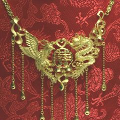 24K Dragon Phoenix Necklace