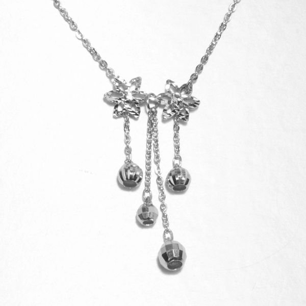Platinum Dangling Necklace