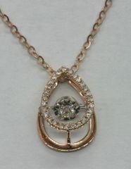 18K Rose Gold Diamond Pendant 0.132ct