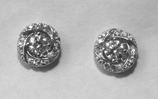 18K White Gold Diamond Jackets Earrings