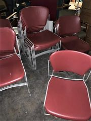 Red Plastic Office Chairs