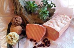 Cranberry Fig loaf soap