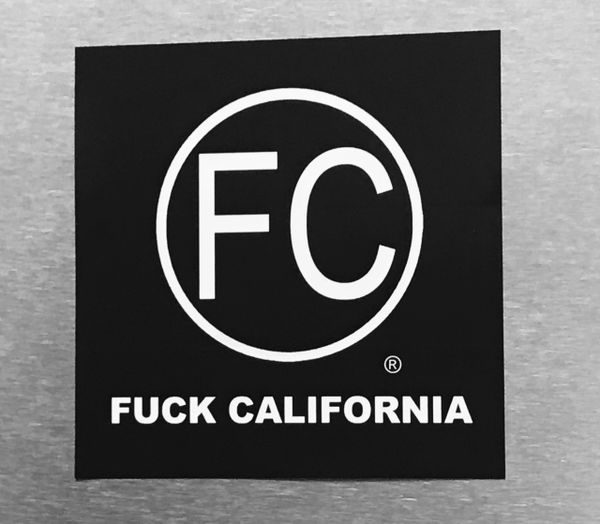 FC® logo Sticker : F#@K California vinyl decal