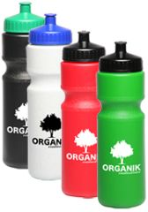 28 oz. Custom Push Cap Plastic Water Bottle / ITEM# WB14402