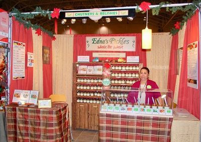 Edna's Pickles Booth display at the One of a Kind Winter show, Toronto, ON