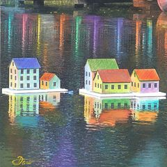 Night Lights- Mixed Media 53005 (sold)