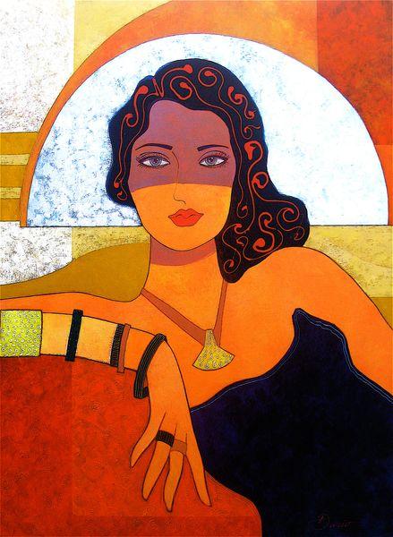 Woman with Jewelry- Print