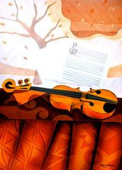 Violin - Original / Embossed