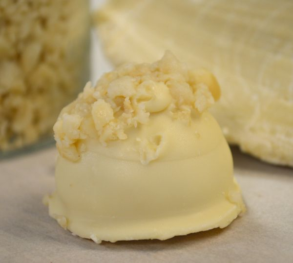 White Chocolate Macadamia Nut Truffle
