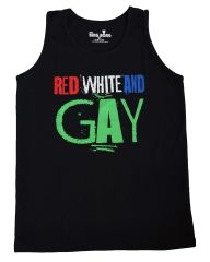 Red White and Gay Tank Top