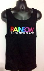Rainbow is the New Black Tank Top Beach Wear