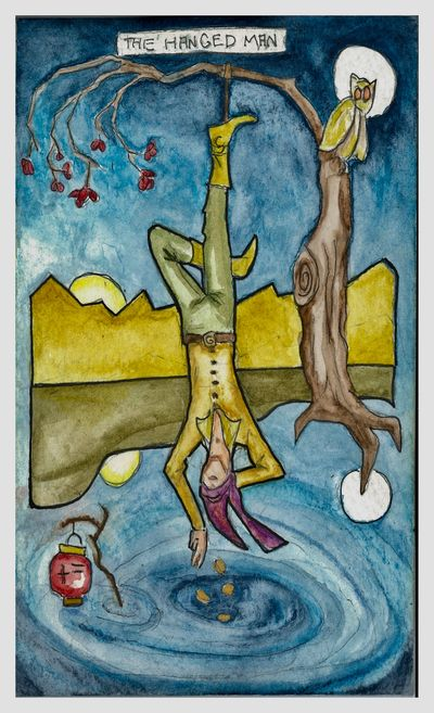 THE HANGED MAN. It's time for a purgatory story. Things look bad but not to worry. Think of it as a