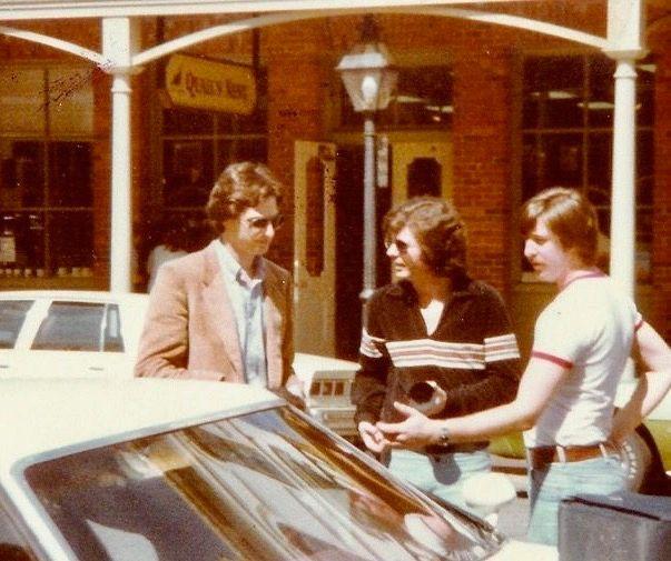 Bob Saget, Stoberner and I working on TV commercial 1980