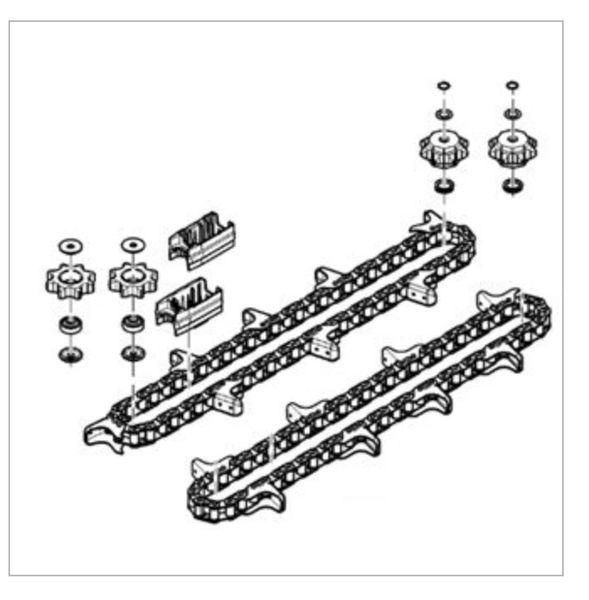 KJD10487 UPGRADE KIT JD 600 to JD 700 Gathering Chains