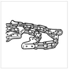 AWH100 GATHERING CHAIN fits Massey 9400 - White Farm Equipment