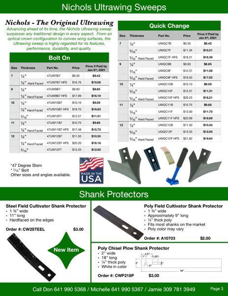 2021 Planting & Tillage Preorder Sale