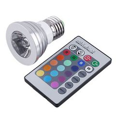 LED Bulb & Remote: Color Changing