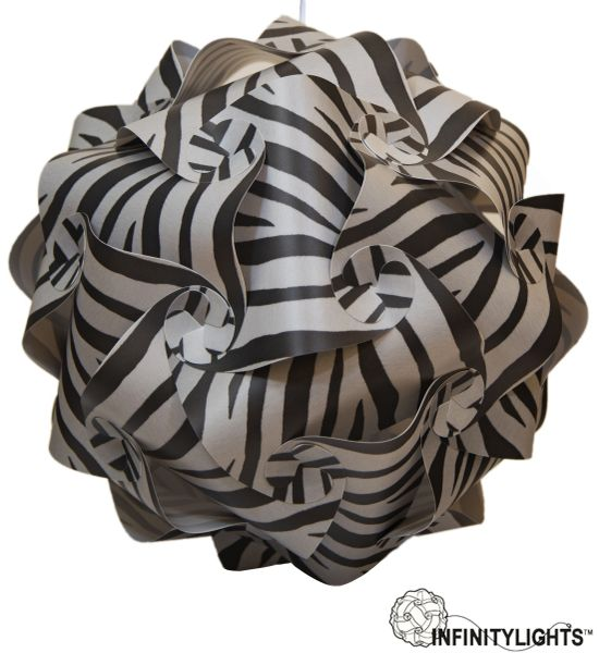 Grey Zebra Infinity Light