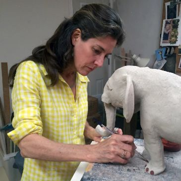 katrina trinka roeckelein artist sculptor animal sculpture elephant conservation interior design