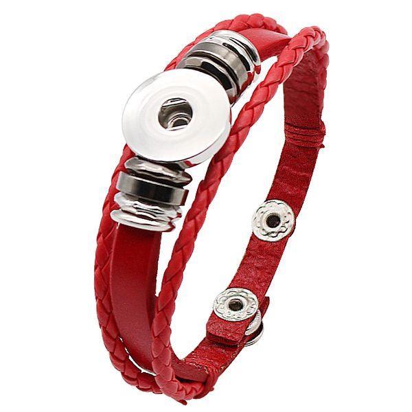 Leather Bracelet_KC0282_Red