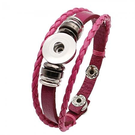 Leather_Bracelet_KC0285_Pink
