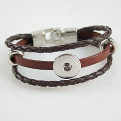 Leather Bracelet_KB0829-Brown