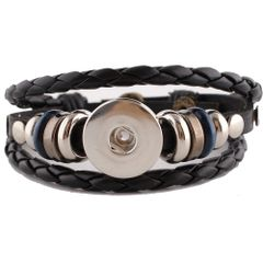Leather Bracelet_kc0644_Black