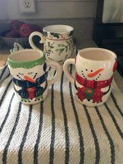 Vintage Snowman Mugs