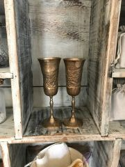 Vintage Silverplate Wine Goblets