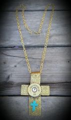 Large Brass Cross Pendant