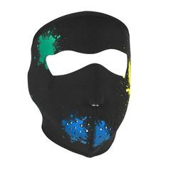 Neoprene Full Face Mask - Glow in the Dark Splatter