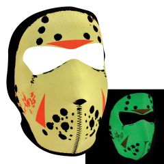 Neoprene Full Face Mask - Glow in the Dark Jason Mask