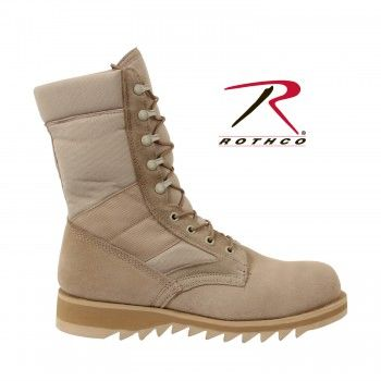 Rothco G.I. Type Ripple Sole Desert Tan Jungle Boots | 5058