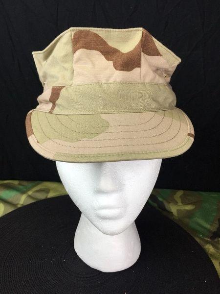 USMC UTLITY CAP | DESERT CAMO | NEW