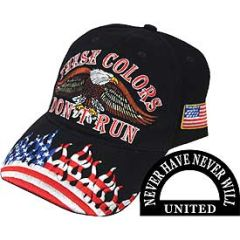 USA,THESE COLORS DONT (BRASS BUCKLE) CAP