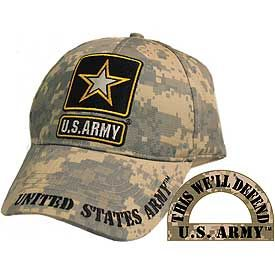 ARMY STAR LOGO DIGITAL CAMO CAP