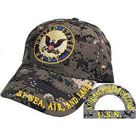 US NAVY LOGO DIGITAL CAMO CAP