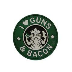 PVC MORALE PATCH - GUNS & BACON