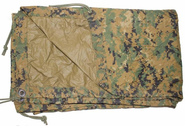 Reversible Field Tarpaulin | Woodland MARPAT - Coyote | USED