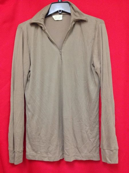 Military Issue Polyester Thermal Undershirt   Medium   Used