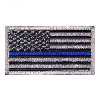 Thin Blue Line Police U.S. Flag Patch | Velcro